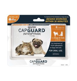 Sergeant's Pet Care Products Sentry CapGuard Flea Tablets Dog 2-25lb 6ct