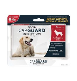 Sergeant's Pet Care Products Sentry CapGuard Flea Tablets Dog Over 25lb 6ct