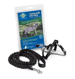 PetSafe Come With Me Kitty Harness & Bungee Leash Medium Black