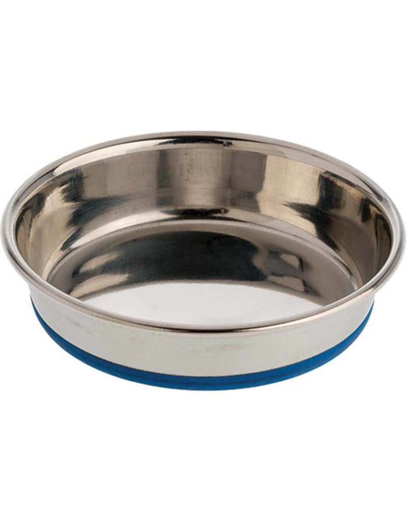 OurPets Premium Rubber-Bonded Stainless Steel Dish 8oz
