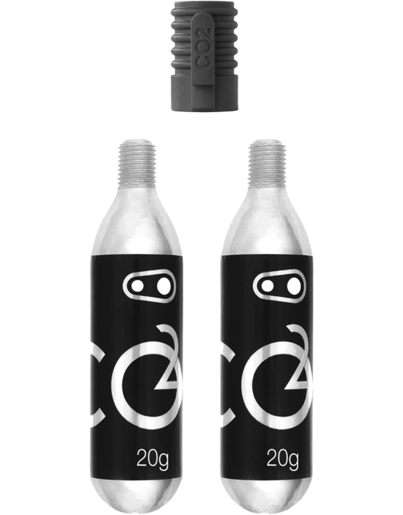Crankbrothers CO2 16G Cartridge (2 Units) W/ Adaptateur