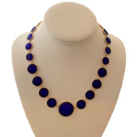 Bubble Glass Blue Necklace