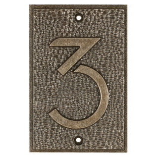 Exhibition Font House Numbers