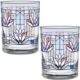 Waterlillies Old Fashioned Glasses