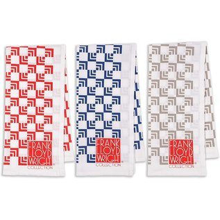 Nested Squares Printed Tea Towels: Set of 3