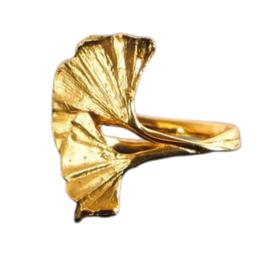 Ginkgo Adjustable Leaf Ring