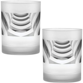 Frosted Ramp Old Fashioned Glasses