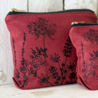 Garden Toiletry Bag - Rasberry