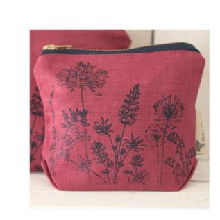 Garden Makeup Bag - Rasberry