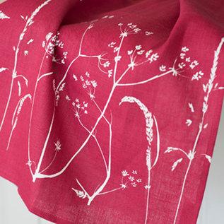 Hedgerow Tea Towel - Raspberry