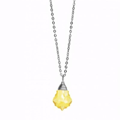 Less is More Sterling Silver Citrine Baroque Necklace