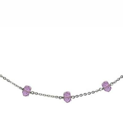Less is More Sterling Silver Amethyst Unity Necklace
