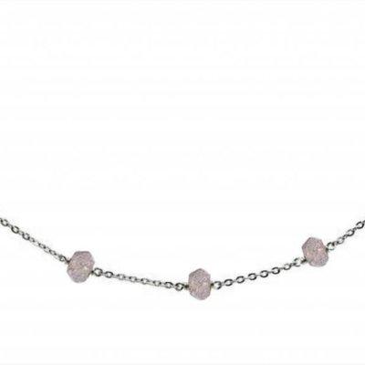 Less is More Sterling Silver Labradorite Unity Bracelet