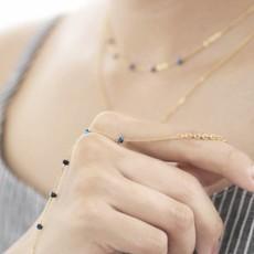 Less is More 14k Gold Filled Pink Jade Unity Bracelet