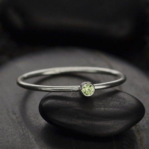 Sterling Silver August Birthstone Ring