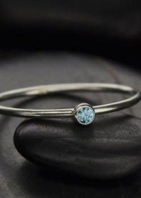 Sterling Silver December Birthstone Ring