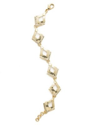 Sorrelli Tri to Love Bright Gold Bracelet with Triangle Pendants