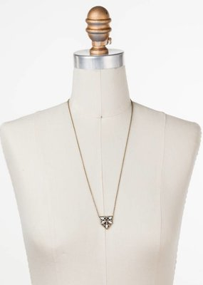 "Sorrelli Mini Medallion Crystal Antique Gold 25 1/2"" Necklace"