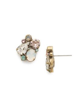 "Sorrelli Daffidil 5/8"" Antique Gold stud Earrings"