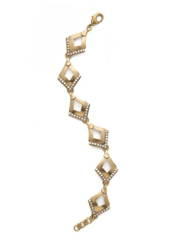 Sorrelli Tri To Love Bracelet in Clear Crystal