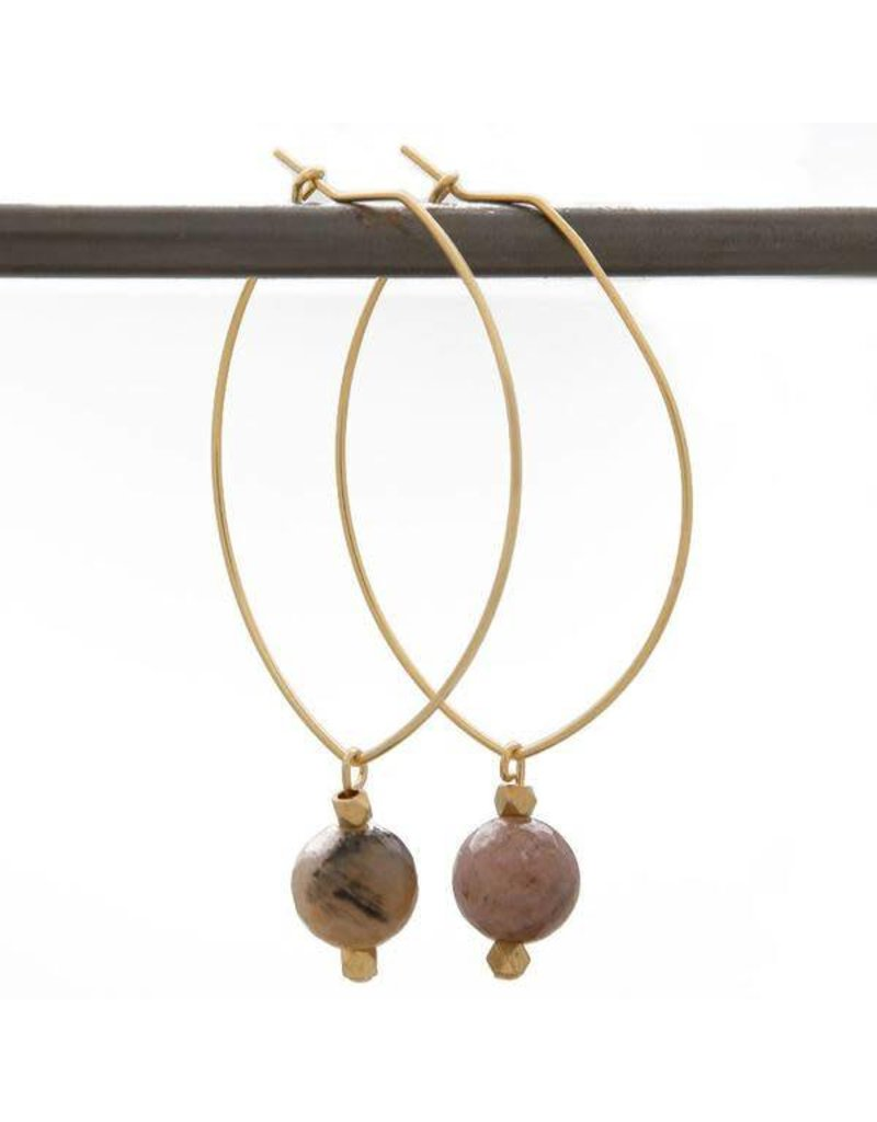 Lenny & Eva Lenny Gemstone Earrings, Fancy Jasper
