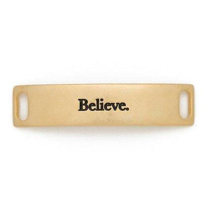Lenny & Eva Gold Engraved Believe Sentiment