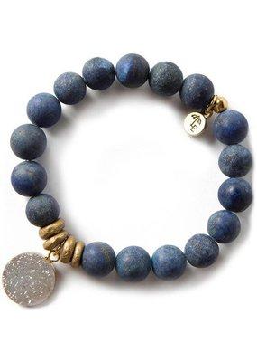 Lenny & Eva 10mm Gemstone Bracelet Lapis Lazuli
