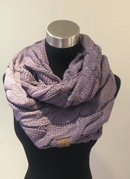 Cheveux Corp. Violet Knit Infinity CC Scarf