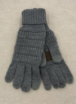 Cheveux Corp. CC Thick Knit Gloves Light Melange Gray