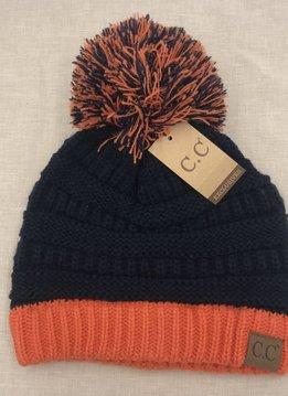 Cheveux Corp. Drk. Blue/Orange Pom CC Hat
