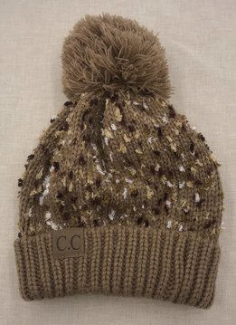 Cheveux Corp. Camel Speckled CC Pom Hat