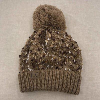C.C. Camel Speckled CC Pom Hat