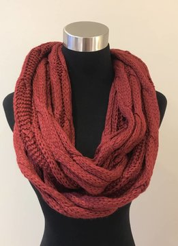 Cheveux Corp. Burgundy Knit Infinity CC Scarf