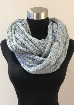 C.C. Natural Grey Knit Infinity CC Scarf