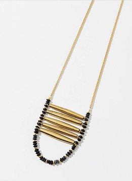 Larissa Loden Black Ladder Necklace