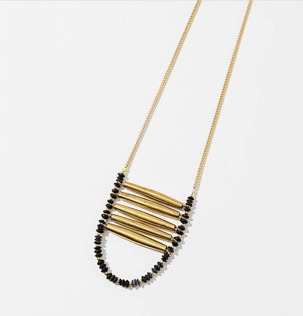 Larissa Loden Black Ladder Necklace