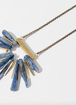 Larissa Loden Blue Kyanite Fan Necklace