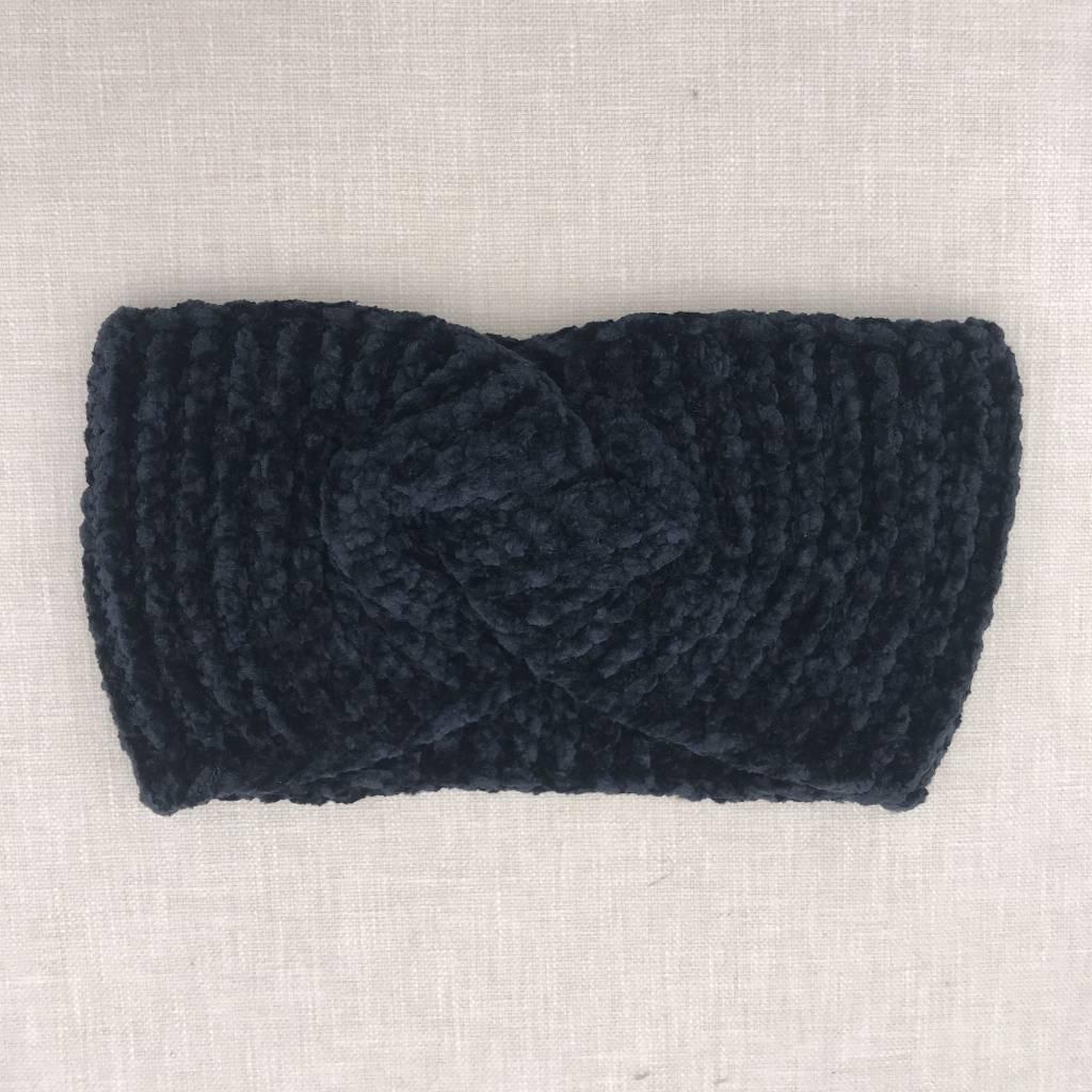 Black Chenille Head Wrap