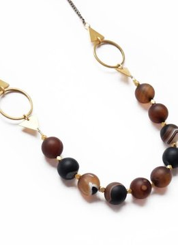 """Larissa Loden Coffee Agate Shapeshifter 30"""" Necklace"""
