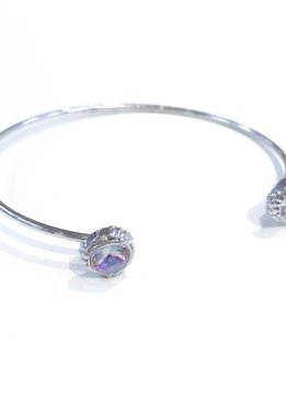 Forever Crystals Lifestone Open Bangle w/Crystal Tips (Vitral Light)