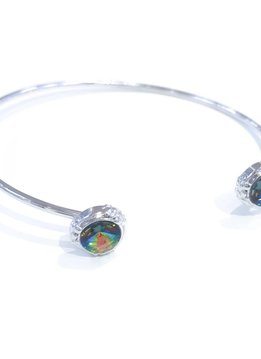 Forever Crystals Lifestone Open Bangle w/Crystal Tips (Vitral Medium)