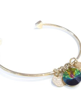 Forever Crystals Memoir Open Bangle Gold (Paradise Shine)