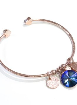 Forever Crystals Memoir Open Bangle Rose Gold (Vitral Medium)