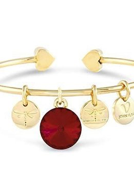 Forever Crystals Memoir Open Bangle Gold (Siam)