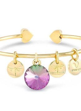Forever Crystals Memoir Open Bangle Gold (Vitral Light)