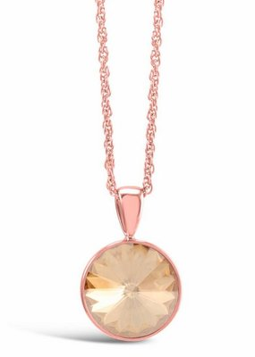 Forever Crystals Pendant Marbella Solitaire (Rose Gold/Golden Shadow)