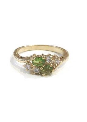 Gold August Birthstone Ring SZ 9