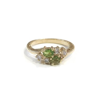Gold August Birthstone Ring SZ 6