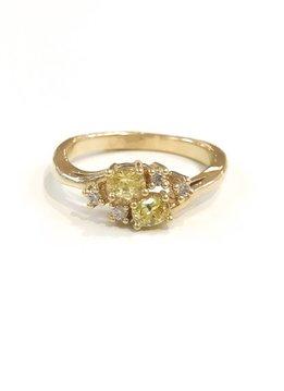 Gold November Birthstone Ring SZ 7