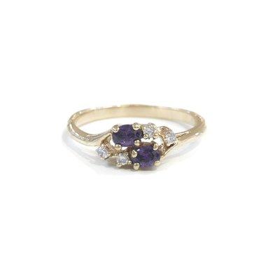 Gold February Birthstone Ring SZ 10